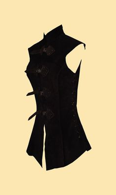 Long Doublet made of leather by Larperlei on Etsy