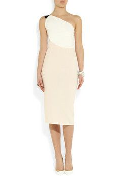 Belmont color-block wool-crepe dress by Roland Mouret