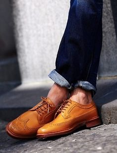 New Handmade Shoes Men Derby Camel Gold Leather Wing Tip Laces Shoes sold by Mr.Leather on Storenvy, the home of independent small businesses all over the world. Me Too Shoes, Men's Shoes, Shoe Boots, Dress Shoes, Shoes Men, Footwear Shoes, Tan Brown Shoes, Brown Brogues, Fashion Moda