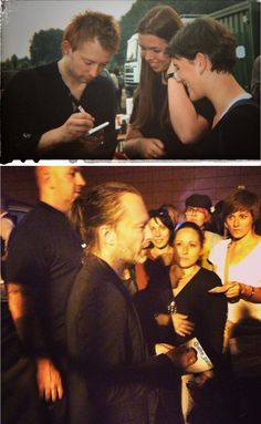 Thom Yorke signing autographs for fans - #Radiohead 1995/2017