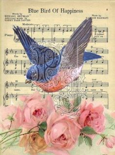 BlueBird Of Happiness : May the Bluebird of happiness spread his bright wings and bring you a thousand good wishes.