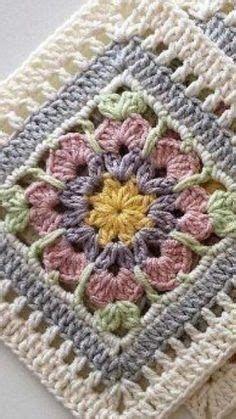 Crochet Square Blanket, Crochet Motifs, Crochet Blocks, Granny Square Crochet Pattern, Crochet Flower Patterns, Crochet Stitches Patterns, Crochet Squares, Crochet Flowers, Knitting Patterns