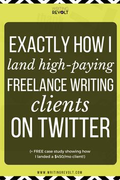 Want to make money writing online? Then you need to set up your Twitter to attract and win freelance writing clients! This in-depth, 2,300-word post will show you exactly how it's done – check it out! :)