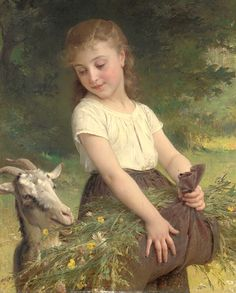 ...because we both love goats! Emile Munier (1840-1895)