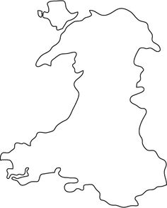 Wales outline map
