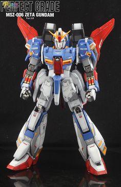 PG Zeta Gundam - Customized Build Modeled by Jon-K Zeta Gundam, Super Hero Costumes, Gundam Model, Mobile Suit, Plastic Models, Transformers, Concept Art, Robot, Cartoon