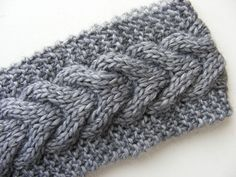 knitted headband/earwarmer $12