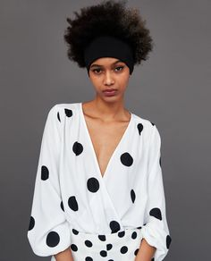 Image 4 of BODYSUIT WITH POLKA DOTS AND BOW from Zara