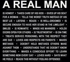 A real man!