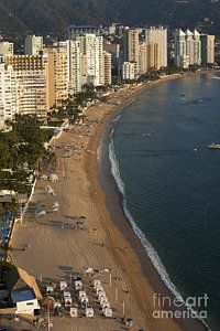 Acapulco Bay - Mexico Print by Anthony Totah