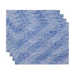 E by Design 18 x 14-inch Marled Knit Stripe Print Placemat
