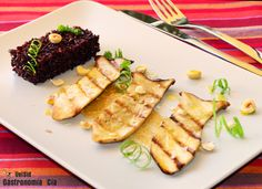 Setas De Cardo Con Praliné De Avellanas Y Arroz Venere | Gastronomía & Cía