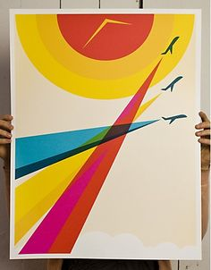 """60's retro, color, simple.  HP WebOS """"Mobile Expressionism"""" campaign"""