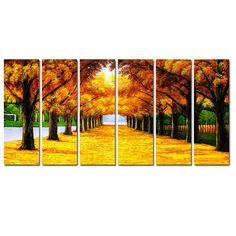 Elementem Photography Fall Way 6 Piece Painting Print on Canvas Set