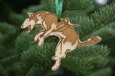 Harness Slam Sled Dog Christmas Ornament