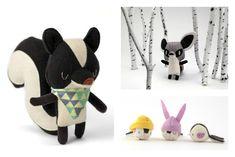Adorable tiny handmade plush animals   Little Bellwoods toys