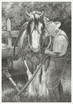 This picture is how I wish to see my Dad with my horses in the future!