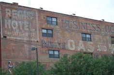 Wall advertisements in Omaha, Nebraska