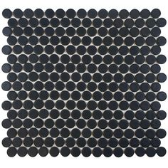shower floor Merola Tile Penny Round Matte Black 12 in. x 12-1/4 in. x 5 mm Porcelain Mosaic Floor and Wall Tile (10.2 sq. ft. / case)-FKOMPR22 at The Home Depot $6.95/sf, with black sanded grout   case/10 = $70.89