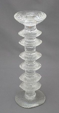 Candlestick / Kynttilänjalka, Festivo, Timo Sarpaneva Modern Glass, Mid-century Modern, Glass Design, Design Art, Glass Company, Nordic Design, Vintage Pottery, Vintage Glassware, Candlesticks