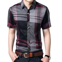 18% СКИДКА Mountainskin полосатый Для мужчин рубашки 5XL Летняя рубашка с  короткими рукавами Для мужчин одежда 100% Хлопковые фирменные носки Бизнес  Для ... f4a77683a67