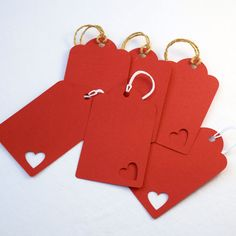 Hearts are always a good idea! 6 gift tags per pack.  www.heartstringinvitations.com.au