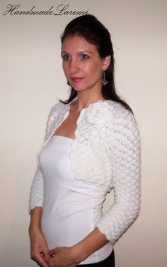 BRIDESMAIDS SHRUG Wedding BOLERO hand crochet by HandmadeLaremi, $94.00 I like this but with long sleeves