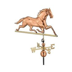 Horse Weathervane ($265) ❤ Liked On Polyvore Featuring Home, Outdoors,  Outdoor Decor
