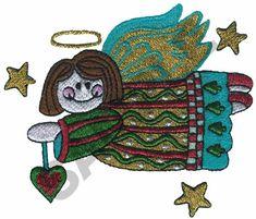 ANGEL Embroidery Design | AnnTheGran