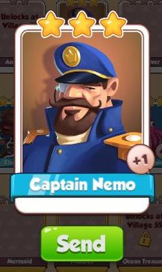 Captain Nemo Card - Ocean Set - from Coin Master Cards - Tassie Books Game Cards, Card Games, Electronic Cards, Sale Purchase, Online Games, Continue Reading, Physics, Coins, Ocean