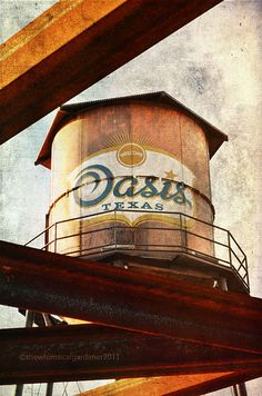 Water Tower at The Oasis Restaurant, Austin, Texas is perched on a bluff 450 feet above Lake Travis.