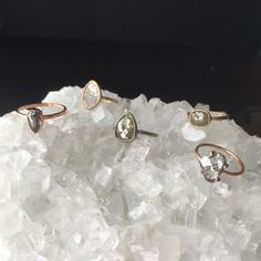 natural conflict-free rose cut diamond rings  ::  Alexis Russell