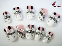 Lacy nails - cute on 1 or 2 nails; not all