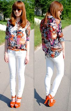 This outfit is fun and flirty and filled with prints! Love it! #prints