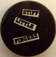 STIFF LITTLE FINGERS Vtg 70`s/80`s Button Badge Pin(25mm-1