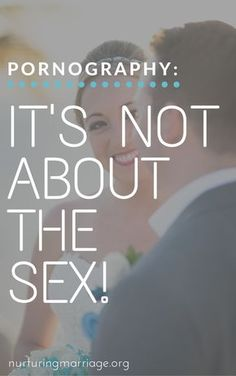 Pornography: It's Not About the Sex! The issue with these perceptions is that pornography is not all about the sex! More often than not, pornography is a symptom, not a cause, of the emotional turmoil individuals experience when they find themselves isolated, lonely, guilty, and full of shame. If you surveyed people who viewed pornography anywhere from a few times a week to a few times a month, you'd find a few things in common about their background.