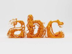 Skyrill Animates an Alphabetic Experiment Titled 'Type Fluid' #food #typography