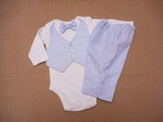 Baby Boy Christening Blessing Outfit Baptism Suit by BabyCuteBaby