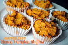 """Gluten Free Honey Pumpkin Muffins"" (#paleo make w/o canola oil) via @pbfingers"