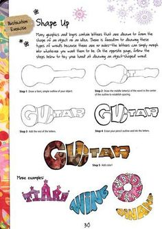 Art Prompt: Draw letters in their shape from the book Creative Illustration and Beyond Creatively use text to take on the shape of an object. Perfect for middle school ages students for a one day art project learning graphic design. Art Sub Plans, Art Lesson Plans, Middle School Art Projects, Art School, Primary School Art, School Projects, Arte Elemental, Art Sub Lessons, Classe D'art