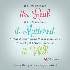 #inspirational quote because #feelingsmatter #johngreen
