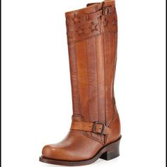 Must go! FRYE 150 Anniversary engineer boots Never worn. If you've ever had a pair of frye boots than you know how beautifully made they are, and how hard they are to live without. If not this will make an excellent first pair of Frye boots. They retail at $790. I'm only asking that you girls be kind with offers, thank you!! Hope you find something you love! #FryeBoots #Frye Frye Shoes