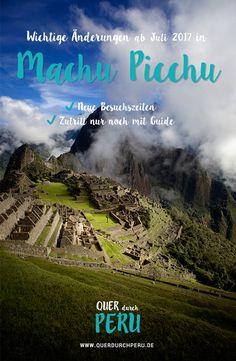 In Machu Picchu ändert sich demnächst einiges! Wir haben dich ja schon vor einigen Wochen über die Neuerungen in Machu Picchu informiert.Vor wenigen Tagen erreichte uns dann die aufgeregte E-Mail einer Leserin, die uns darauf hingewiesen hat, dass sichab dem 01. Juli 2017 noch viel mehr in Machu Picchu ändert, als zunächst angenommen.Worum es sich bei diesen Änderungen handelt und was das für deine Peru-Reise bedeutet, erfährst du in diesem Artikel.