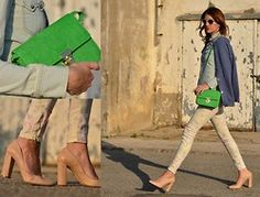 floral jeans & the green bag!:-)