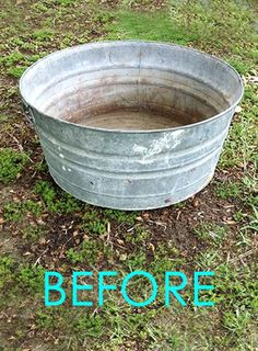Water fountain : old galvanized tub transformed into a beautiful outdoor patio piece in 30 minutes!Easy DIY Solar Fountain in 1 Hour! {with Pond Water Plants} An old galvanized tub transformed into a beautiful outdoor solar fountain with pond and wat Rustic Gardens, Outdoor Gardens, Indoor Outdoor, Outdoor Spaces, Front Gardens, Cottage Gardens, Solaire Diy, Small Patio Ideas On A Budget, Budget Patio