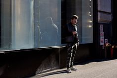 camo and puffer vest - On The Street…Broome St., New York « Scott Schuman  - The Sartorialist  -