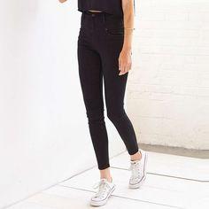 Rank & Style Top Ten Lists | BDG High-Rise Seamed Jean #rankandstyle #denim #jeans http://www.rankandstyle.com/top-10-list/best-skinny-jeans-under-100/
