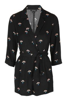 731a9535bd5 Wrap Front Printed Playsuit Fashion Trends
