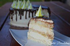 SÜTIK BIRODALMA: Fehér piskótás citromtorta Vanilla Cake, Cheesecake, Food, Cheesecakes, Essen, Meals, Yemek, Cherry Cheesecake Shooters, Eten
