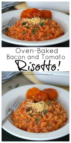 Easy Oven-Baked Bacon and Tomato Risotto! (GF)